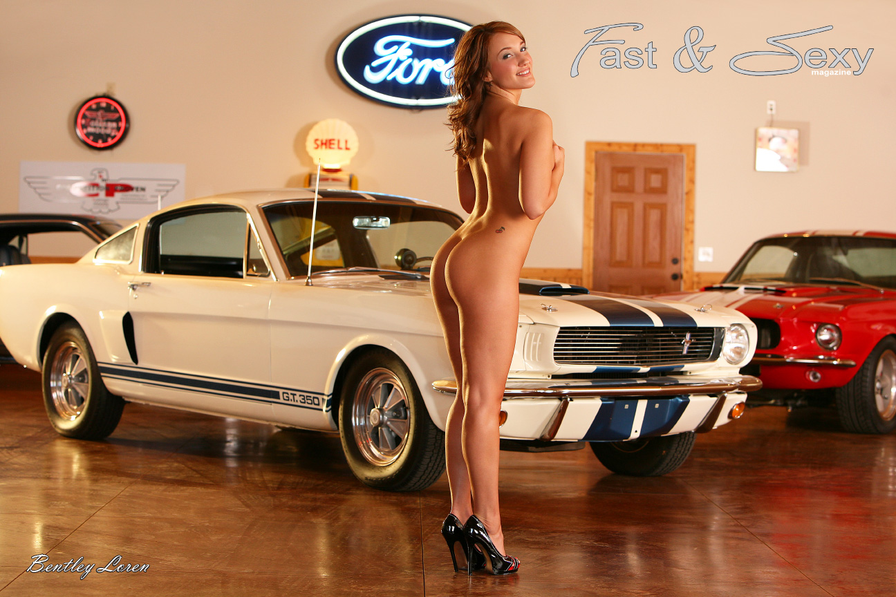 Fast car sexy woman