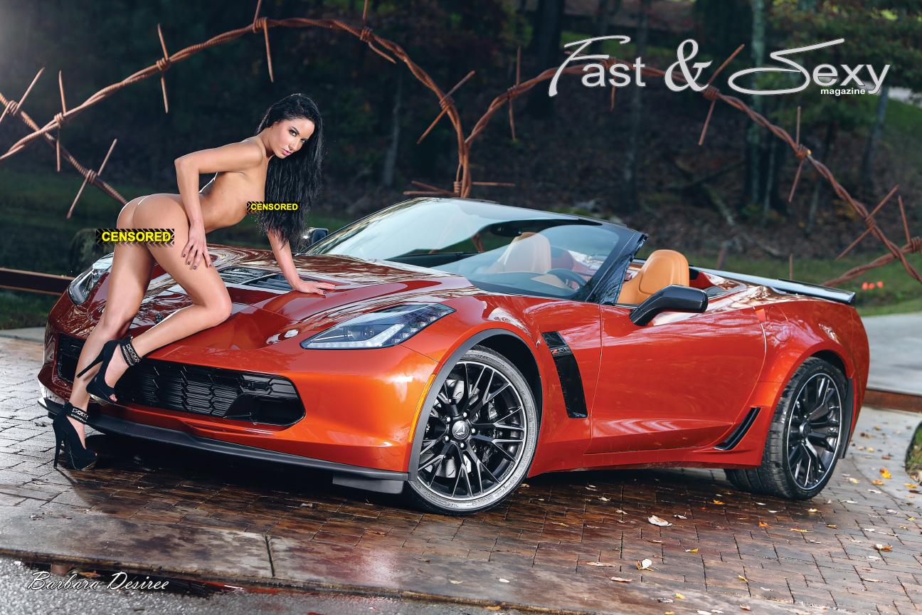 nude girl and corvette