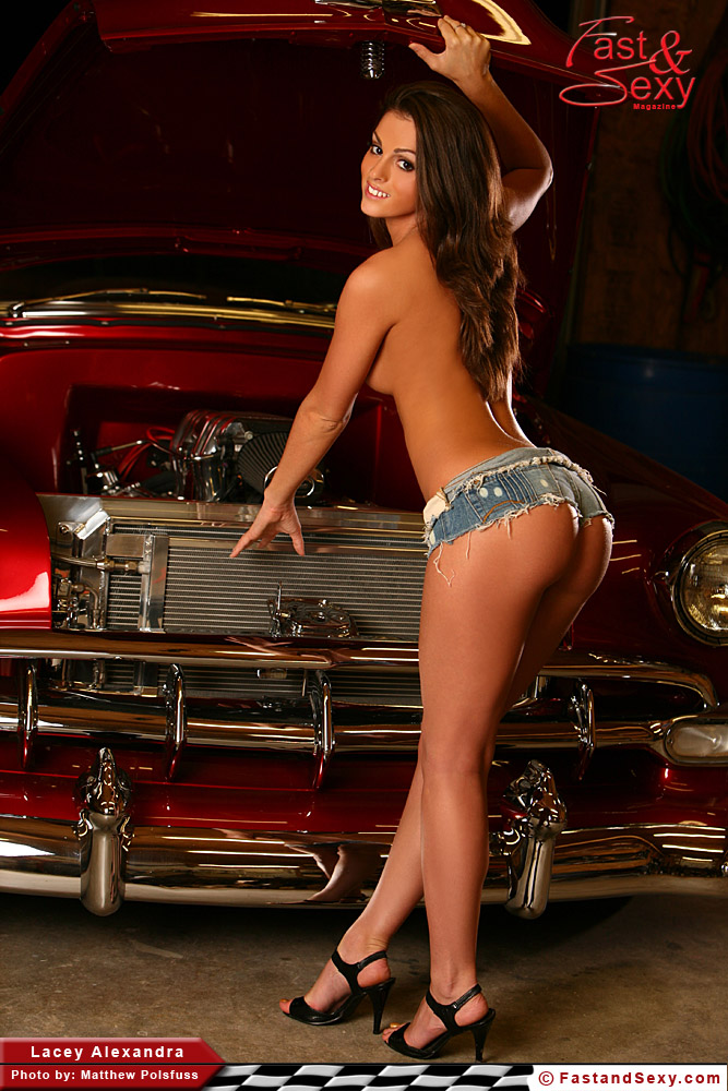 Hotrods and nude model