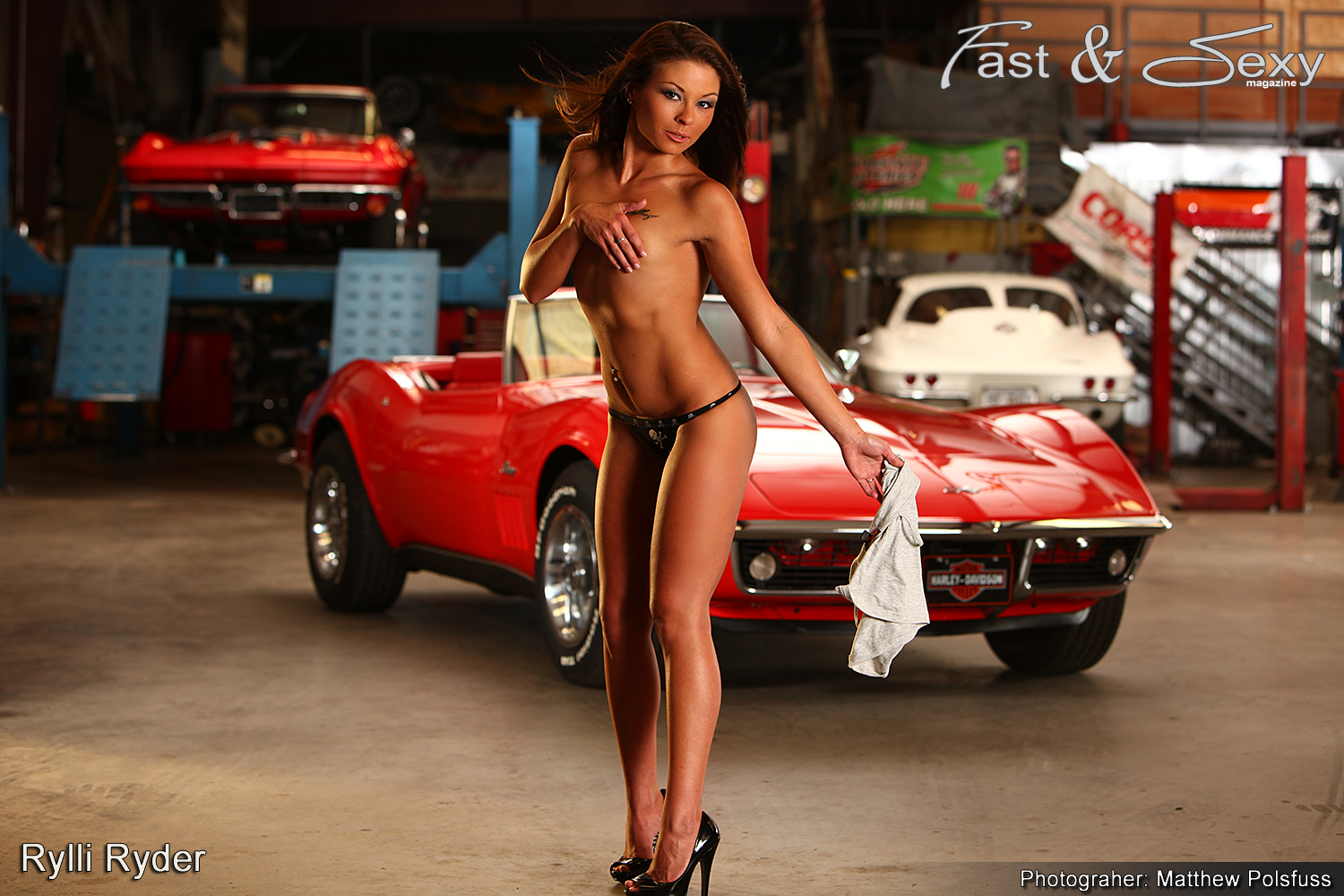 Cars and hot girl