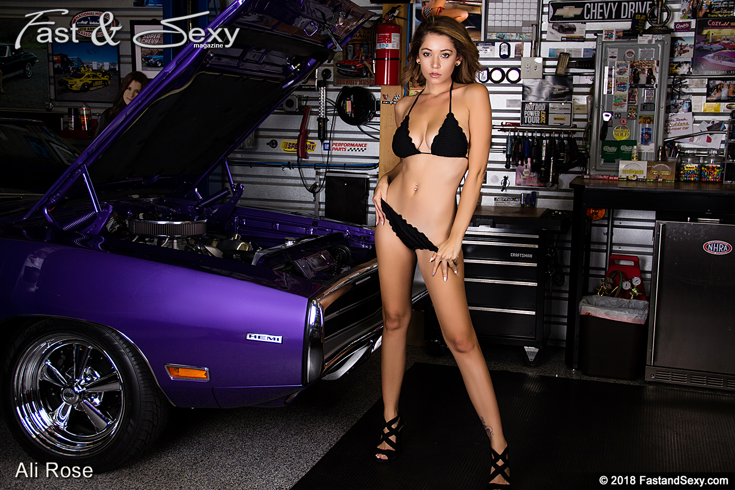 A charger Nude model in